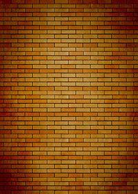 オレンジ色のレンガが並ぶパターン背景A4サイズ(縦長)