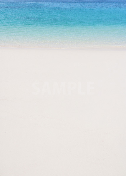 白いビーチに余白があるA4サイズ素材