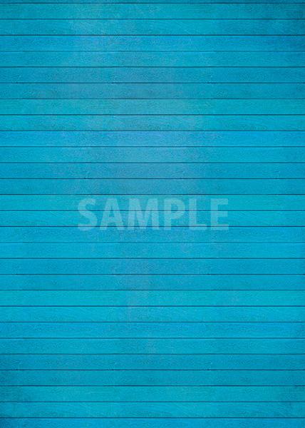 青色のフローリングのA4サイズ素材