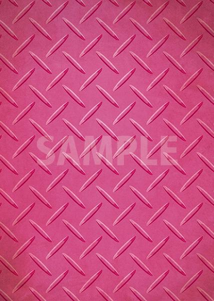ピンク色のチェッカープレートのA4サイズ背景素材