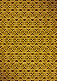 黒と金色の菊菱・和柄、A4サイズ背景素材