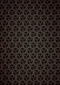 黒い巴紋・和柄、A4サイズ背景素材