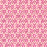 ピンク色の巴紋・和柄、A4サイズ背景素材