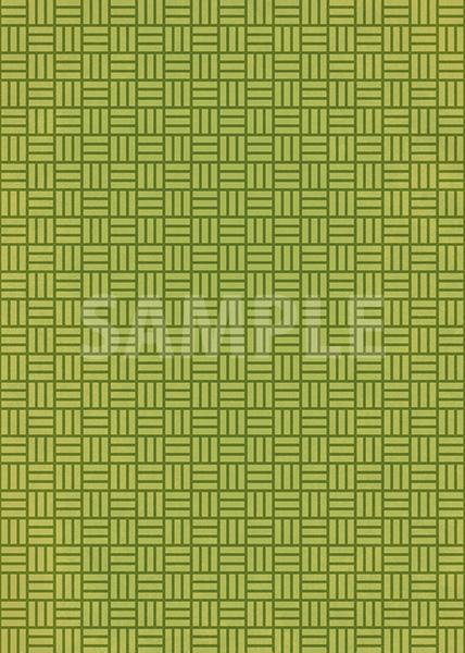緑色の算崩し模様・和柄、A4サイズ背景素材