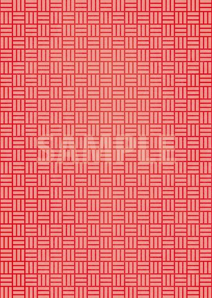 赤色の算崩し模様・和柄、A4サイズ背景素材