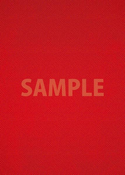 赤色の鮫小紋模様・和柄、A4サイズ背景素材