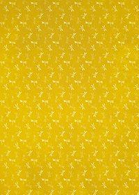 黄色の勝ち虫・とんぼ柄、A4サイズ背景素材