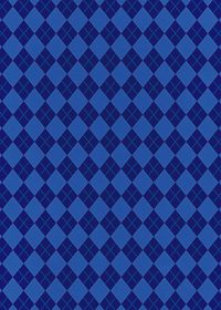 青いのアーガイルチェック柄、A4サイズ背景素材