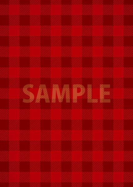 赤色のシェパードチェック柄、A4サイズ背景素材
