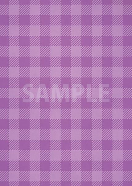紫色のシェパードチェック柄、A4サイズ背景素材