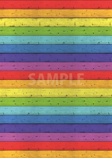 虹色の板の間・木材のA4(縦長)サイズ背景素材