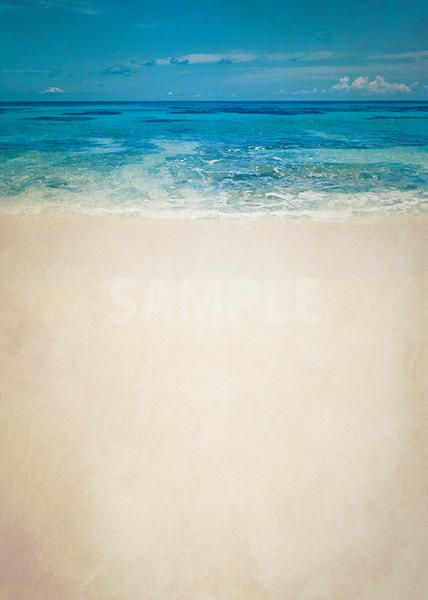 ビンテージ感のある海のA4サイズ背景素材