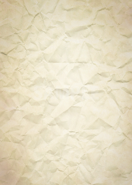 薄っすら茶色いくしゃくしゃの紙のA4サイズ背景素材