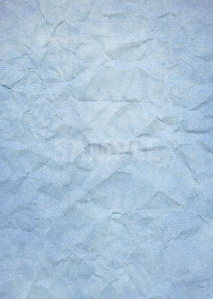 青色のくしゃくしゃな紙のA4サイズ背景素材