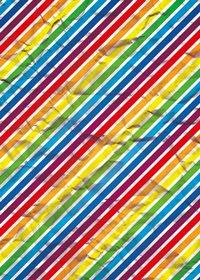 虹色のくしゃくしゃな紙のA4サイズ背景素材