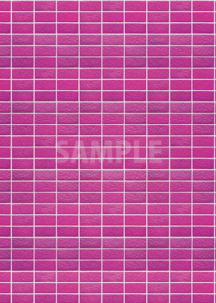 綺麗に整列するピンク色のレンガのA4サイズ背景素材