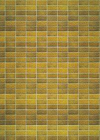 綺麗に整列する黄色のレンガのA4サイズ背景素材