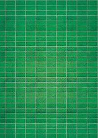 綺麗に整列する緑色のレンガのA4サイズ背景素材