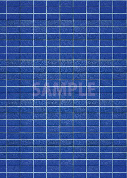 綺麗に整列する青色のレンガのA4サイズ背景素材