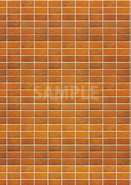 綺麗に整列するオレンジ色のレンガのA4サイズ背景素材
