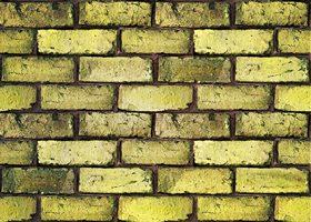 ゴツゴツした黄色のレンガのA4サイズ背景素材