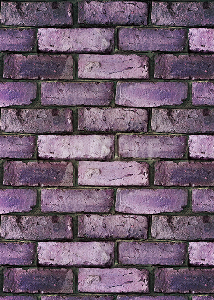 ゴツゴツした紫色のレンガのA4サイズ背景素材