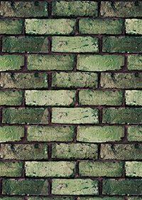ゴツゴツした緑色のレンガのA4サイズ背景素材