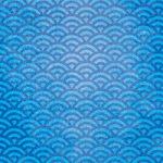 青い青海波のA4サイズ背景素材