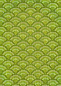 緑色の青海波のA4サイズ背景素材