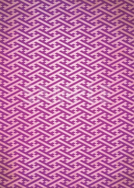 紫色の紗綾形・和柄のA4サイズ背景素材