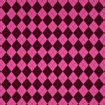 ピンク色のアーガイルチェック柄、A4サイズ背景素材