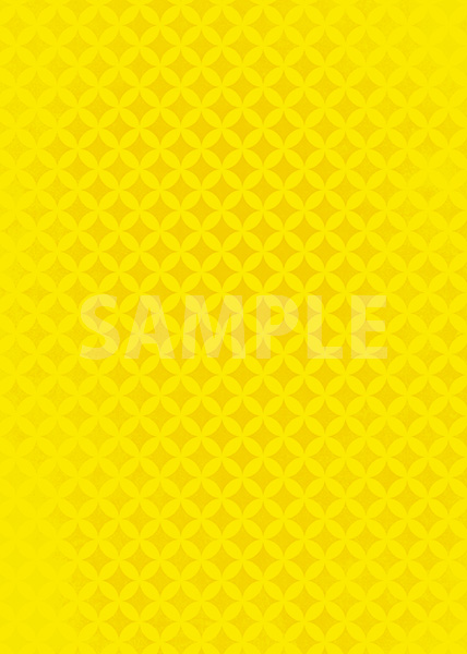 黄色の七宝柄A4サイズ背景素材