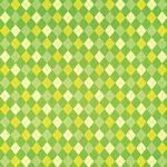 緑色のアーガイルチェック柄のA4サイズ背景素材