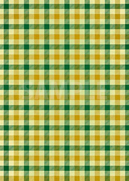 緑と黄土色のガンクラブチェック柄のA4サイズ背景素材