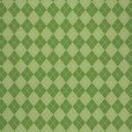 緑色のアーガイルチェック柄、A4サイズ背景素材