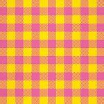 ピンクと黄色のシェパードチェック柄、A4サイズ背景素材
