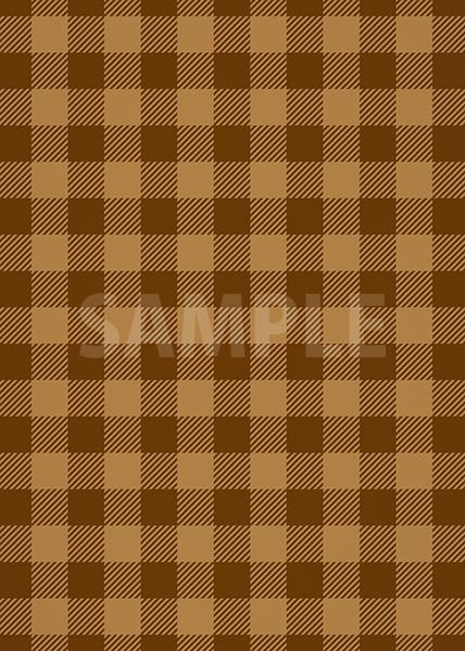 茶色のシェパードチェック柄、A4サイズ背景素材