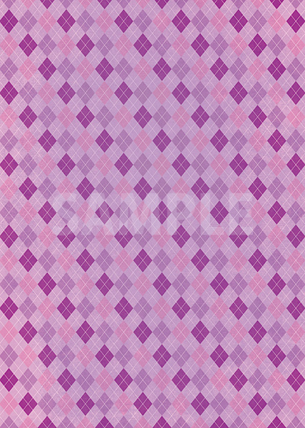 紫色のアーガイルチェック柄のA4サイズ背景素材