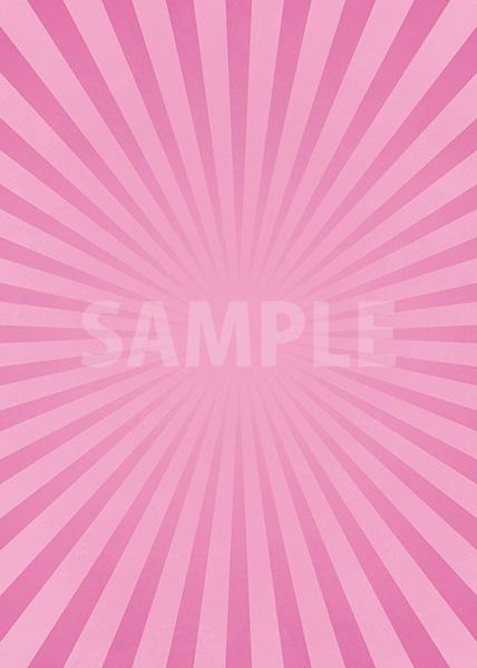 ピンク色の集中線のA4サイズ背景素材