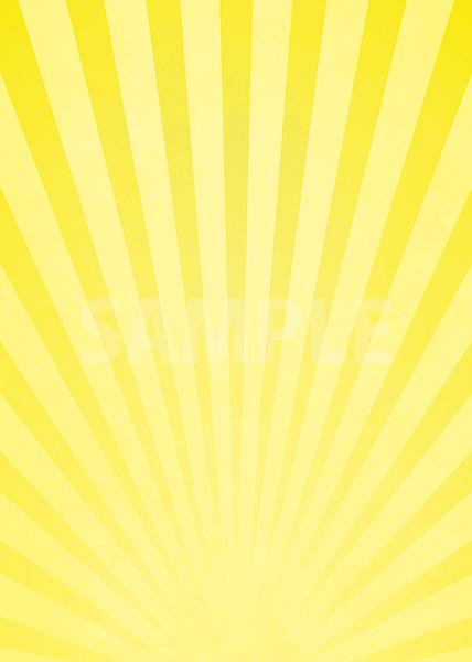 黄色の下に向かう集中線のA4サイズ背景素材