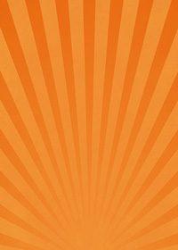 オレンジ色の下に向かう集中線のA4サイズ背景素材