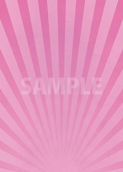 ピンク色の下に向かう集中線のA4サイズ背景素材