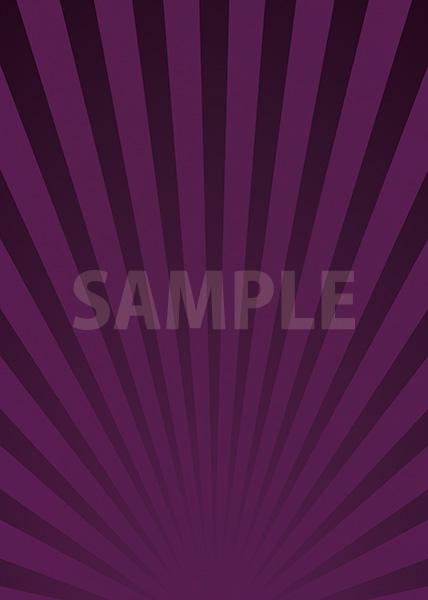 紫色の下に向かう集中線のA4サイズ背景素材