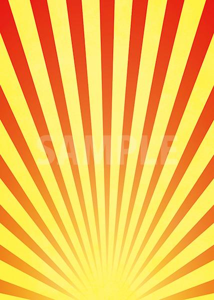赤と黄色の下に向かう集中線のA4サイズ背景素材