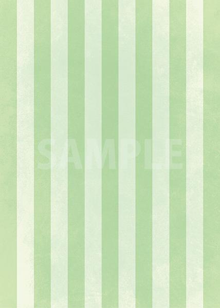 グリーンストライプのA4サイズ背景素材