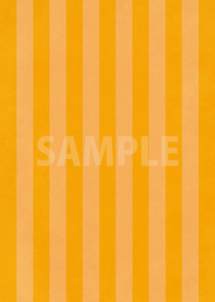 オレンジストライプのA4サイズ背景素材