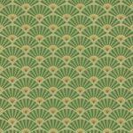緑色の扇子が並ぶ和風A4サイズ背景素材