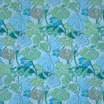 青い花のイラストのA4サイズ背景素材