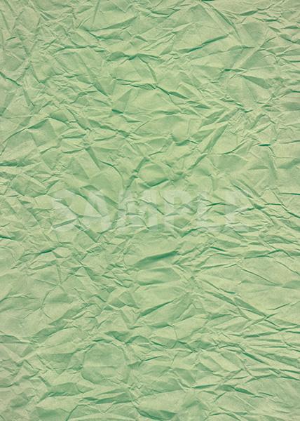 緑色のしわくちゃの紙のA4サイズ背景素材