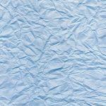 青色のしわくちゃの紙のA4サイズ背景素材